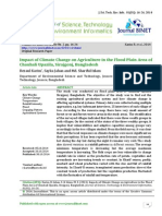 Impact of Climate Change on Agriculture in the Flood Plain Area of Chauhali Upazila Sirajgonj Bangladesh