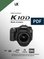 Mode Emploi Pentax K10d