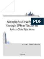 2007 ICESA Achieving High Availability and Performance Computing for ERP System Using Oracle Real Application Cluster 10g Architecture