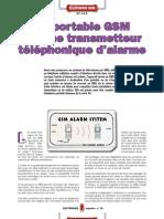 Un portable GSM comme transmetteur téléphonique d'alarme