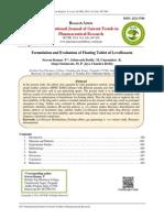 Formulation and Evaluation of Floating Tablet of Levofloxacin