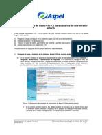 Puesta en Marcha de Aspel-COI 7.0 Para Usuarios de Una Versión Anterior