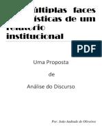 As múltiplas faces jornalísticas de um relatório institucional - Andrade de Oliveiros