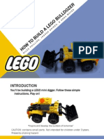 how to build a lego bulldozer