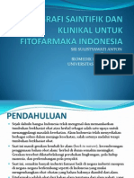 Monografi Saintifik Dan Klinikal Untuk Fitofarmaka Indonesia