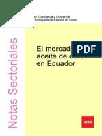 Eel Mercado Del Aceite de Oliva en Ecuador