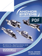 Duckbill Ground Anchor Systems - Helical Anchors & Anchor Bolts (Feb 2010)