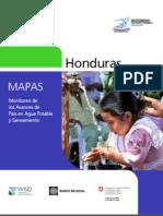 Monitoreo de Avances de País en Agua Potable y Saneamiento de Honduras 2013 MAPAS