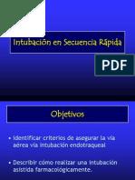 Intubación en Secuencia Rápida