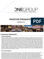 The One Group Jan 2015 investor presentation slide deck ppt pdf icr xchange