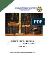 Drept Civil Teoria Generala an 1 Sem I