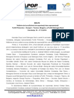 Minuta Intalnire de Lucru FLAG PST Bulgaria 16.12.2014