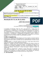 10.01.15 Alterações Da Resolução SE 75-13 Atribuição de Aulas