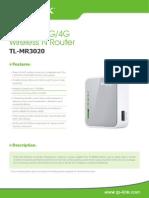 TL-MR3020 V1 Datasheet 1