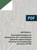 IV - Diversidad Fenotípica de Aislamientos de F. Graminearum Aplicando Espectroscopía Infrarroja Con Transformada de Fourier FTIR