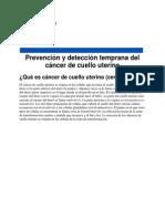 Deteccion Temprana de CA Cervix