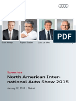 Speeches, North American International Auto Show 2015, January 12, 2015