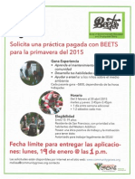 BEETS Spring 2015 Extension Flyer ESPANOL