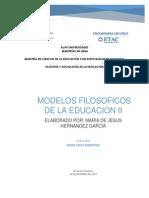 MODELOS FILOSÓFICOS DE LA EDUCACION