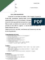 test de français 2