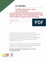 Günther Hamann - Johannes Regiomontanus