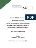 Plan de TESIS de Maestría en Docencia Universitaria de Ana Paula de DEus Mesck