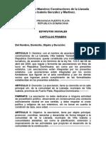 Asociación de Maestros Constructores de La Llanada Villa Isabela González y Martínez