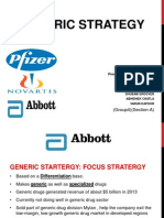 Pharmaceutical company's Generic strategy.