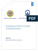 Creating onlinle trouble ticketing system