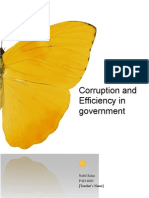 Corruption and Efficiency in Government