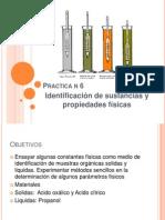 identificación de sustancias y propiedades  físicas
