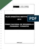 PLAN Plan Operativo Institucional 2012