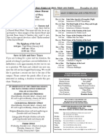 Santa Sophia Bulletin - 28 Dec 2014