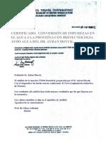 Certificado KOSGEB y UIT. Descontaminación de Agua Tóxica Pasado a BioNutriente AyDo. Istanbul-Completa