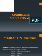 Curs 17 Sindroame Mediastinale