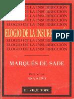 Marqués de Sade Elogio de La Insurrección