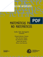 Matematicas Para No Matematicos