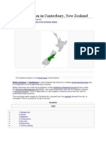 Water Pollution in Canterbury, New Zealand
