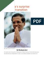 Sri Lanka's Surprise Political Transition