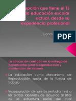 Conclusiones Percepción Del TS en La Educación Actual