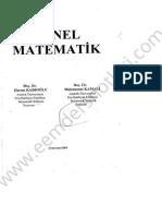 Genel Matematik 1 - Bülent Ecevit Üniversitesi Ders Notları