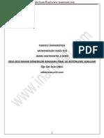 Genel Matematik 2 - Tunceli Üniversitesi İnan Ünal Final Vize Ve Bütünleme Soruları