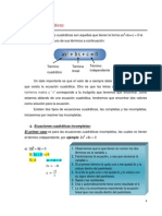 2.3.3 Ecuaciones Cuadráticas