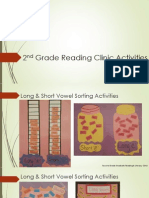 classroom projects and activities--2nd grade reading clinic