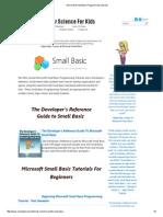 Microsoft Small Basic Programming Tutorials Ch00