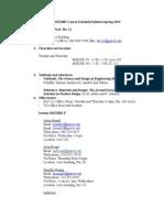 2015 Spring MSE2001 Syllabus Schedule