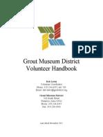grout museum district volunteer handbook