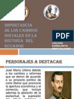 Cambios Sociales en El Ecuador