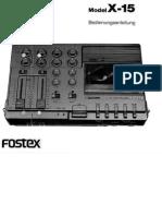 Fostex x15 Owners Manual