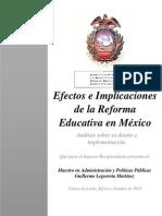 Efectos e Implicaciones de la Reforma Educativa en México